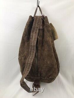 Rrl Sake Cinch Sack Bag Extremely Rare Persimmon Dyed Linen Og Hangtag Japon