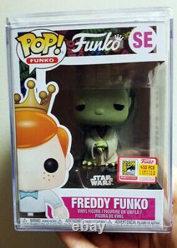 Sdcc 2018 Pop Star Wars Yoda Freddy Funko Fundays Vinyl Figure 1/450 Graal Mint