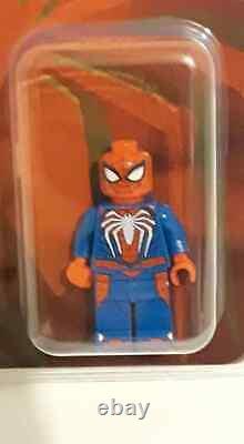 Sdcc Exclusive Lego Ps4 Spiderman Mini Figure 2019 Extrêmement Rare
