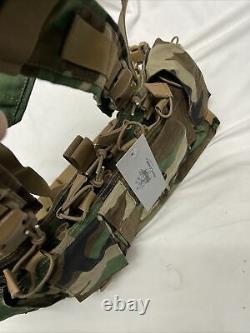 Systèmes De Vitesse Extrêmement Rares Mayflower Uw Gen IV Chest Rig Woodland Camo M81