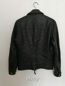Tous Les Saints Hayne Veste En Cuir Taille Xs Extrêmement Rare Prc £350