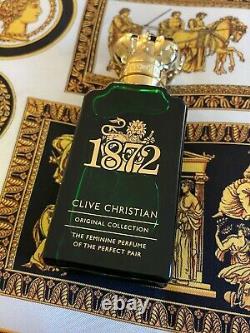 Véritable Clive Christian 1872 Citrus Floral Extrêmement Rare Marque Nouveau 1.6oz 50ml