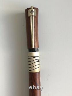Waterman Extrêmement Rare Sérénité Cocobolo Fountain Pen 18ct Plume D'or