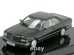 Wow Extremely Rare Mercedes W126 500 Sec Coupe Pearl Black 143 Auto Art-560-se