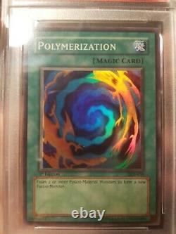 Yugioh 1er Ed Lob-059 Polymérisation Super Rare Psa 10 Gem Menthe Extrêmement Rare