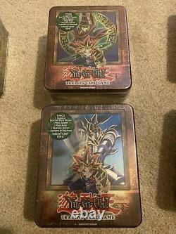 Yugioh 2003 Tin Complete Set Nouvelle Usine Scellé Gem Mint Cond. Extrêmement Rare