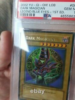 Yugioh Dark Magician Lob 005 1er Ed. Psa 10 Gem Mint Wavy 1er Print Run Rare