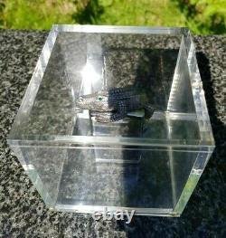 Zippo, 3d Crocodile In Acrylic Cube, Edition Limitée (extrêmement Rare)